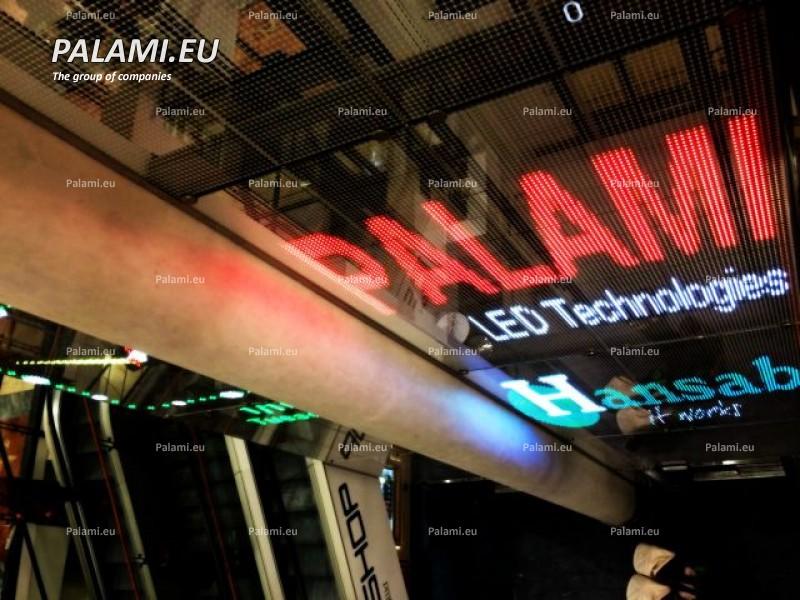 Прозрачный стеклянный экран установлен на конструкцию лифтовой шахты в торговом центре «Viru Keskus» в г. Таллин (Эстония)