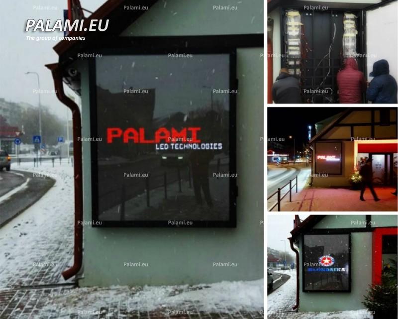 Установлен светодиодный экран для Клуба азартных игр и развлечений Klondaika(Латвия).
