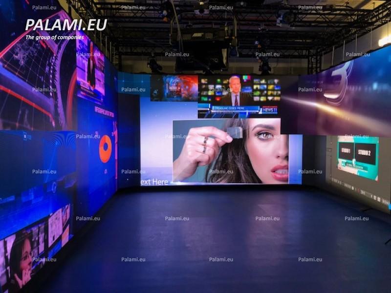 В новостной  студии Национальной государственной телерадиокомпании РБ установлен светодиодный экран высокого разрешения.