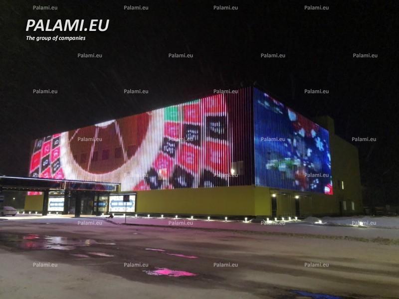 Самый большой медиафасад в Беларуси установлен на гостинично-развлекательном комплекс «М1».