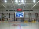 В новом Ледовом дворце в г.Лида установлен комплекс сопровождения соревнований по хоккею, включающий три полноцветных видеотабло и судейское оборудование.