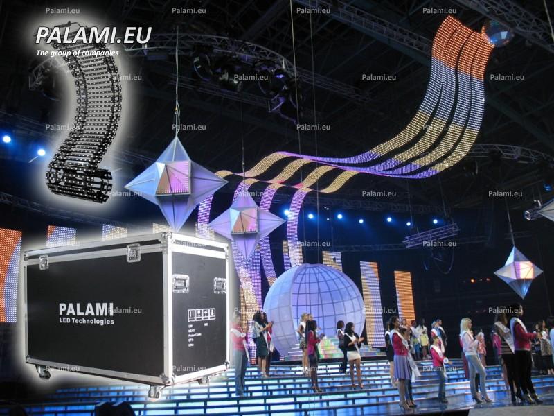 Изготовлен и поставлен прокатный комплект гибкой светодиодной сетки Palami-SMD-FlexiStrip-37.5 в г. Хельсинки (Финляндия).