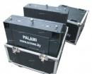 Полноцветный электронный светодиодный видеоэкран модели Palami-RGB-v10m в мобильных быстросборных корпусах изготовлен по заказу телевизионной студии г.Ханты-Мансийск, Россия.
